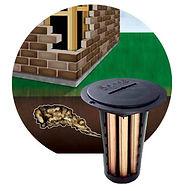 Termite-locators and monitoring statios