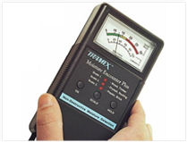 moisture meter reading used during termite inspection
