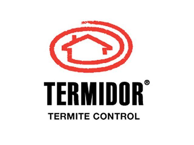 Termidor logo with text Termidor Termite Control