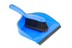 dust pan and shovel to removal carpet stain