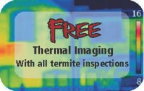 free thermal imaging with termite inspections