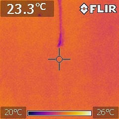 Infra red camera used for termite dections