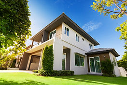 locaters for termites in front yard of house