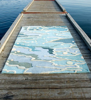 Caring for carpets that are near salt water