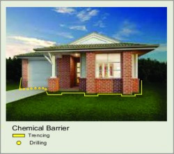 Chemical termite barrier