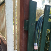 Timber fence attached to house - DIY termite inspection