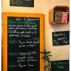 La semaine commence par un joli repas à La Table Verte ;-))