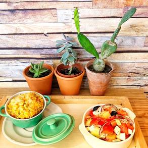 Un gratin de céréales, une jolie salade et un décor dépaysant ... vous êtes à La Table Verte ;-))