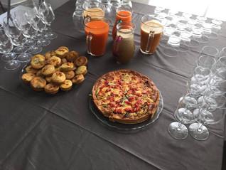 Mini cake aux courgettes et tarte provençale