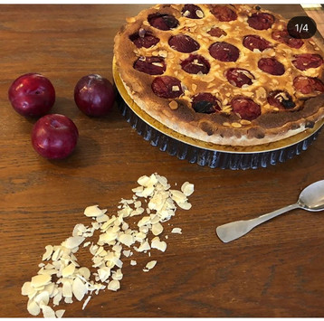 La tarte aux prunes rouges