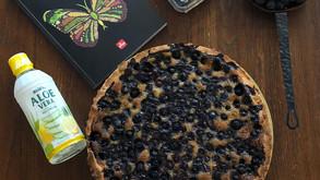 Venez vous réchauffer en dégustant une tarte aux myrtilles avec un bon thé ...