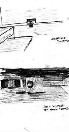 Olivetti Showroom Staircase (Carlo Scarpa) -  study of fixings