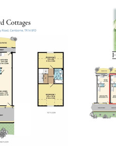 Plans of No.2 Courtyard Cottages presented in the sales brochure.