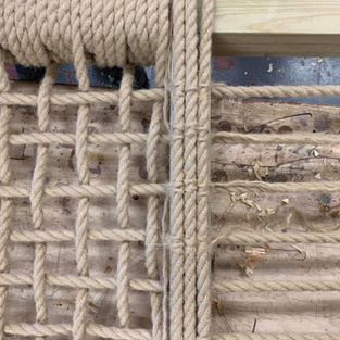 Hemp rope from the local chandlery.