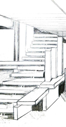 ARC140 : Sketch by Julzs of Carlo Scarpa's Olivetti Showroom  Staircase