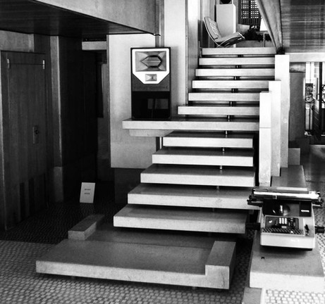 An old image of the staircase at the Olivetti Showroom in Venice - source unknown
