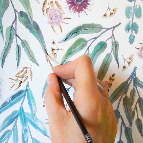 Eucalyptus Gum White A-line Skirt