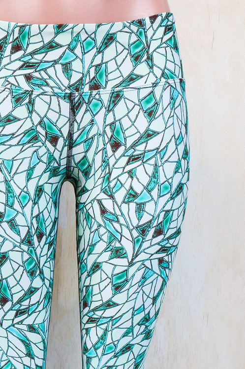 Sixties Mineral Green Leggings