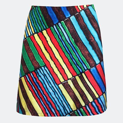 Rainbow A-Line Skirt
