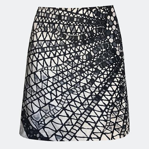 Medusa Black & White A-line Skirt
