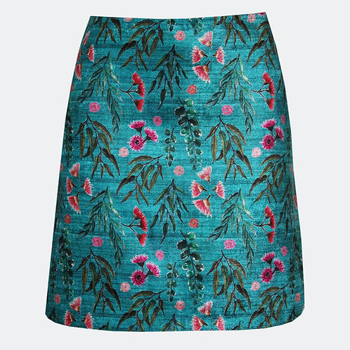 Eucalyptus Gum Teal Skirt