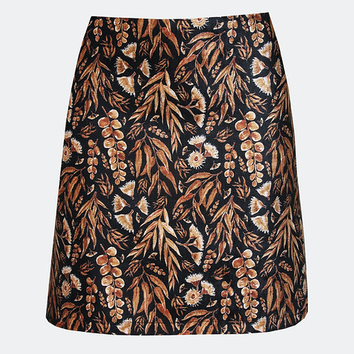 Eucalyptus Gum Black & Gold Skirt