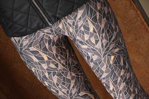 Sixties Copper Brown Leggings