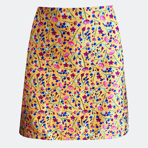 Babies Breath Yellow A-line Skirt