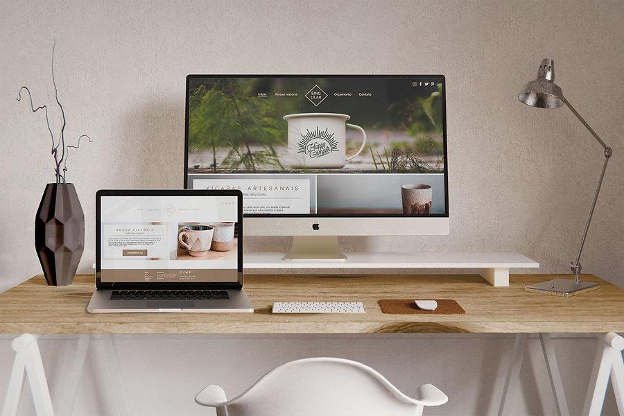 singular web design Monochrome-Workspace