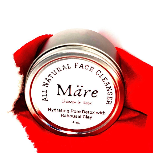 All Natural Evening Face Cleanser Chamomile Rose Clay