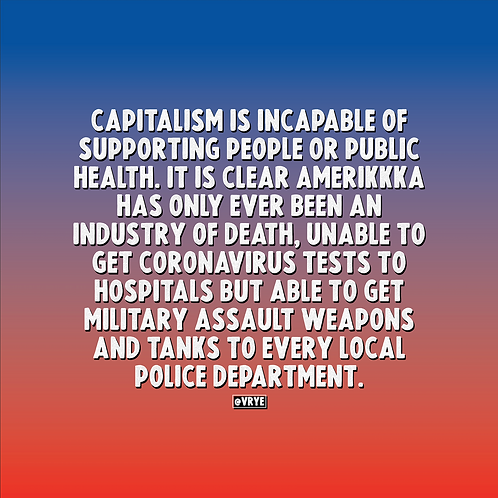 CAPITALISM IS INCAPABLE