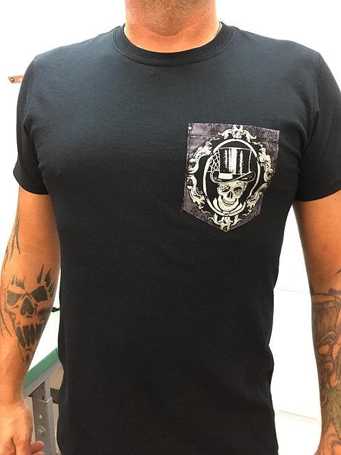 T-Shirt skull+tophat