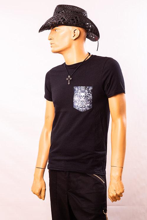 T-shirt skull + swirls