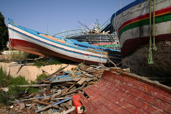Lampedusa boat cemetery 2014.jpg