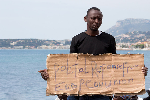Migrant rejected by French authorities V