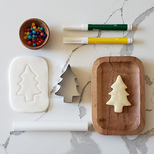 Fondant Sugar Cookie Batter Box - Christmas Tree