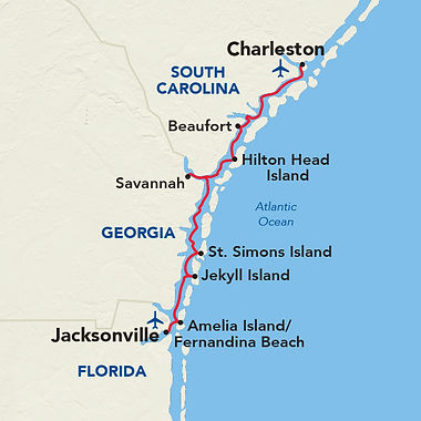 Golden Isle Cruise Map - Champlain Tours