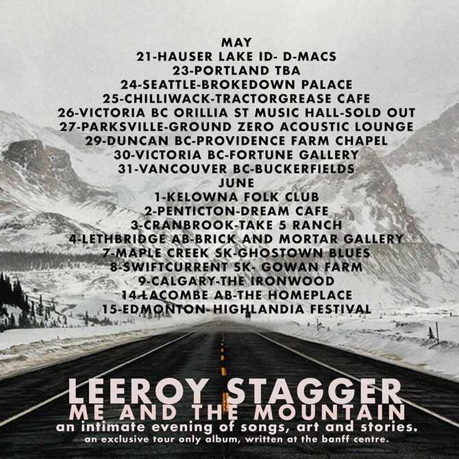 Leeroy Stagger set for Intimate North American tour in May