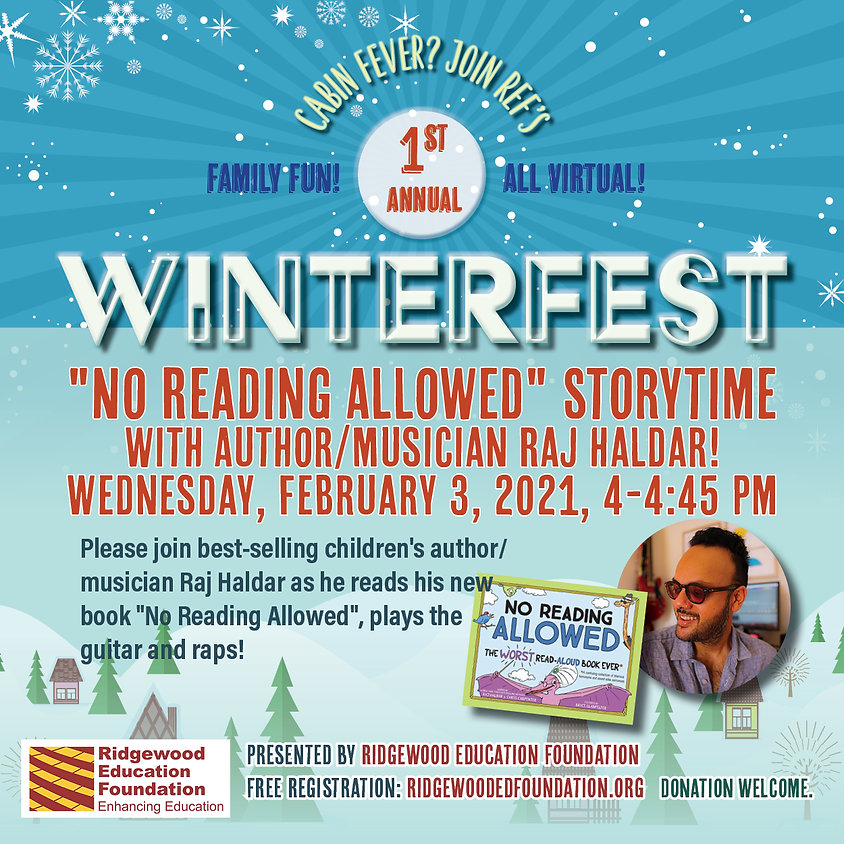 No Reading Allowed: Storytime with Author/Musician Raj Haldar
