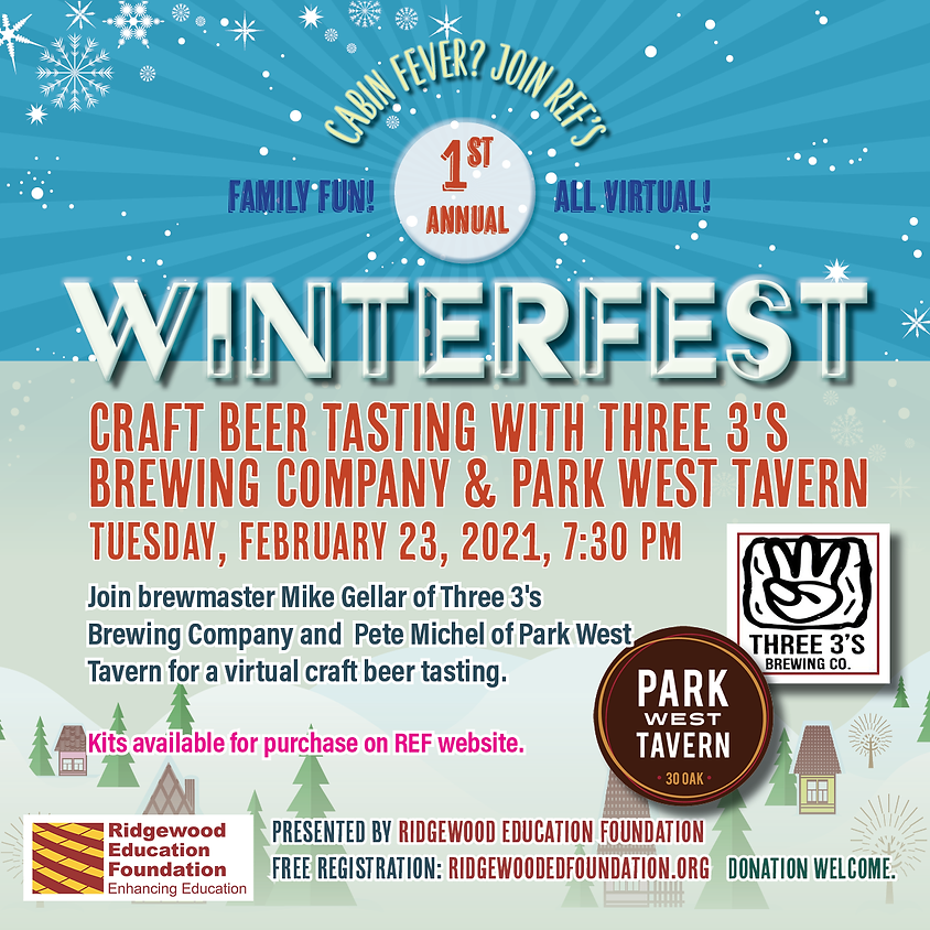 Craft Beer Tasting with Three 3's Brewing Company and Park West Tavern