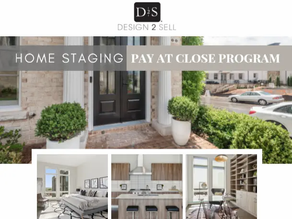 Pay at Close Program Offered by Design2Sell