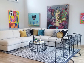 Luxury Modern Atlanta Home Staged with Unique Artwork
