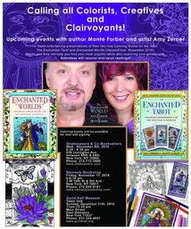 Upcoming book-signing events for our new coloring books!