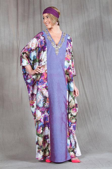Purple Bouquet Caftan