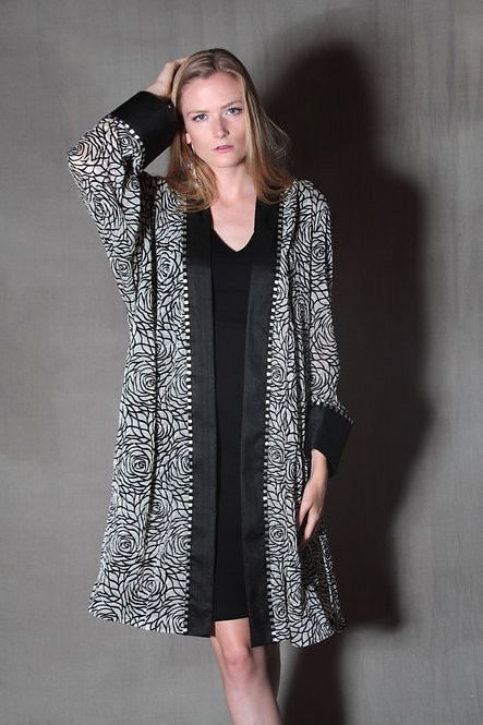Black and Cream Vera Jacket