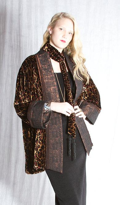 Velvet Leopard Jacket