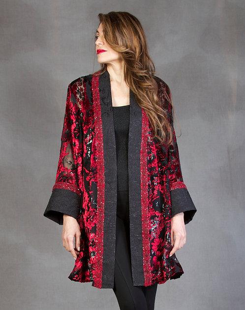 Red Flora Jacket