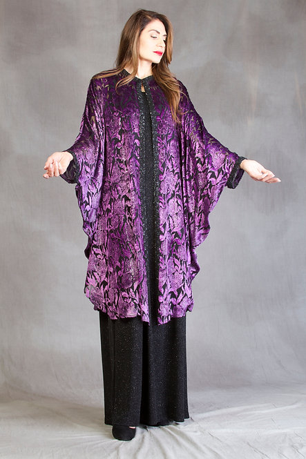 Burnout Velvet Caftan Wrap