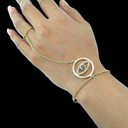 Magic Eye Ring/Hand Bracelet