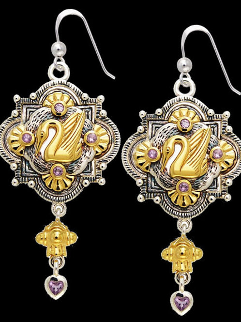 Intention Talisman: Swan Nest Earrings